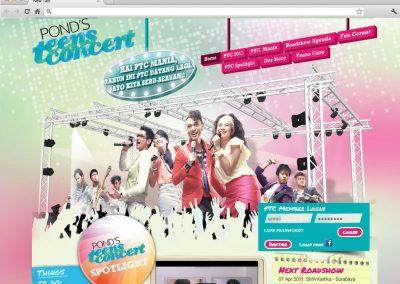 Pond's Teen Concert