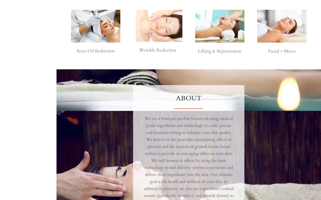 Rania Med Spa website