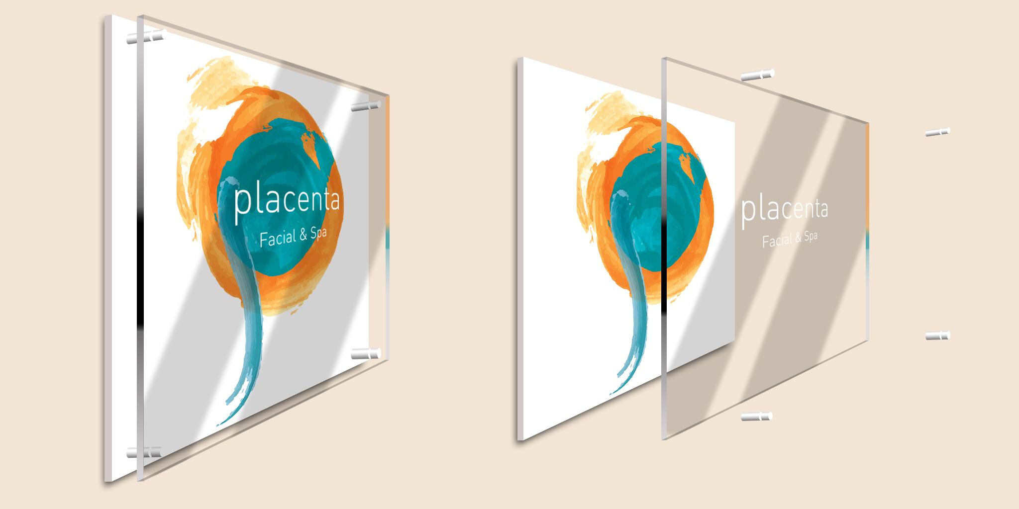 Placenta Facial & Spa wall signage